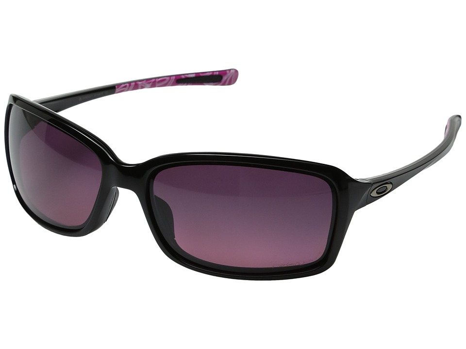 Oakley - Dispute (Polished Black/SmokeyO/Rose Gradient Polarized) Sport Sunglasses