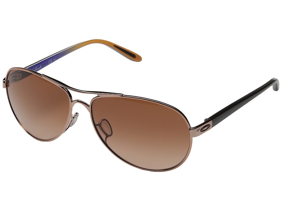 Oakley - Feedback (Rose Gold/Gemstone Fade/VR50 Brown Gradient) Sport Sunglasses