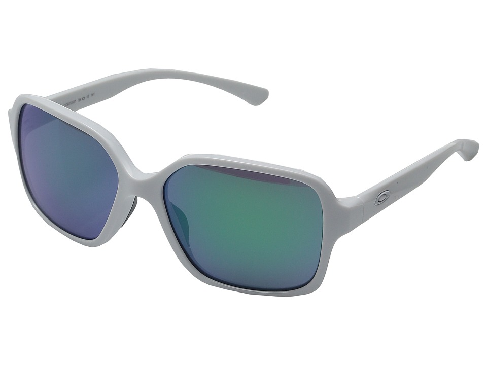 Oakley - Proxy (Polished White/Jade Iridium) Plastic Frame Fashion Sunglasses