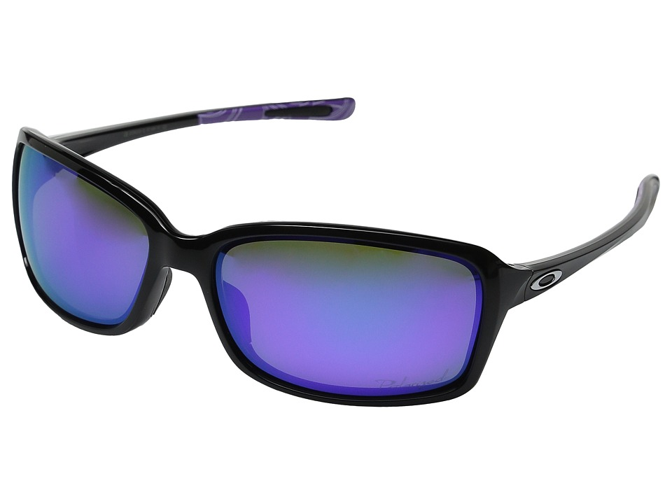 Oakley - Dispute (Polished Black/Violet Haze/Violet Iridium Polarized) Sport Sunglasses