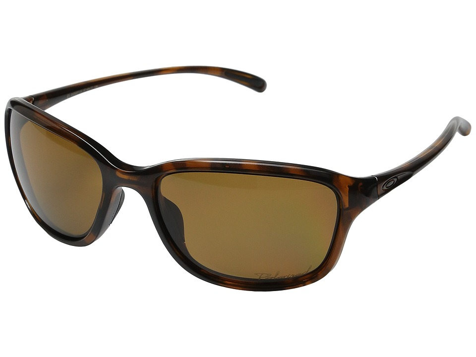 Oakley - She's Unstoppable (Tortoise/Bronze Polarized) Plastic Frame Fashion Sunglasses
