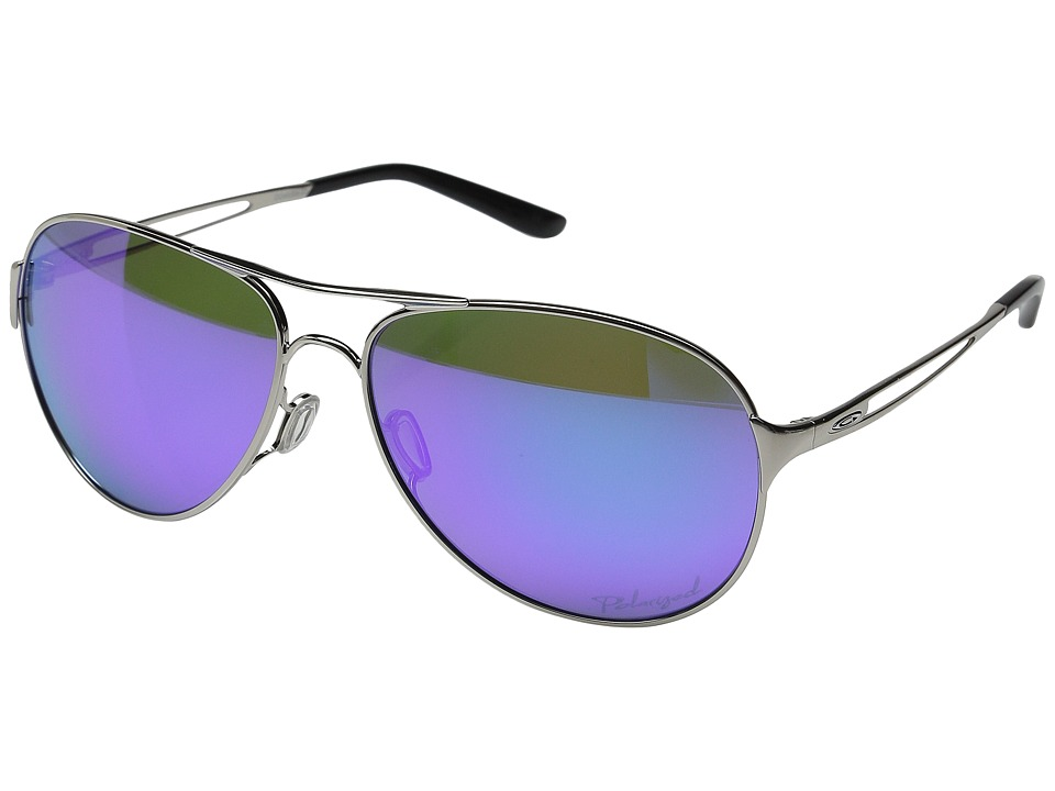 Oakley - Caveat (Polished Chrome/Violet Haze/Violet Iridium Polarized) Sport Sunglasses