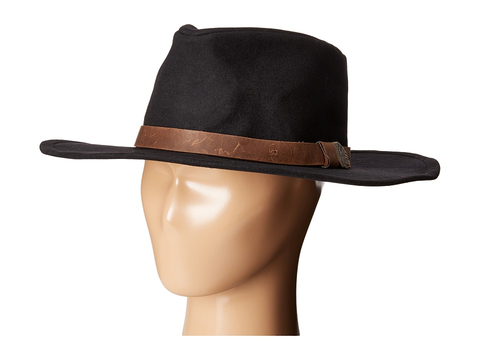 Brixton - Thorpe Fedora (Black/Brown) Fedora Hats