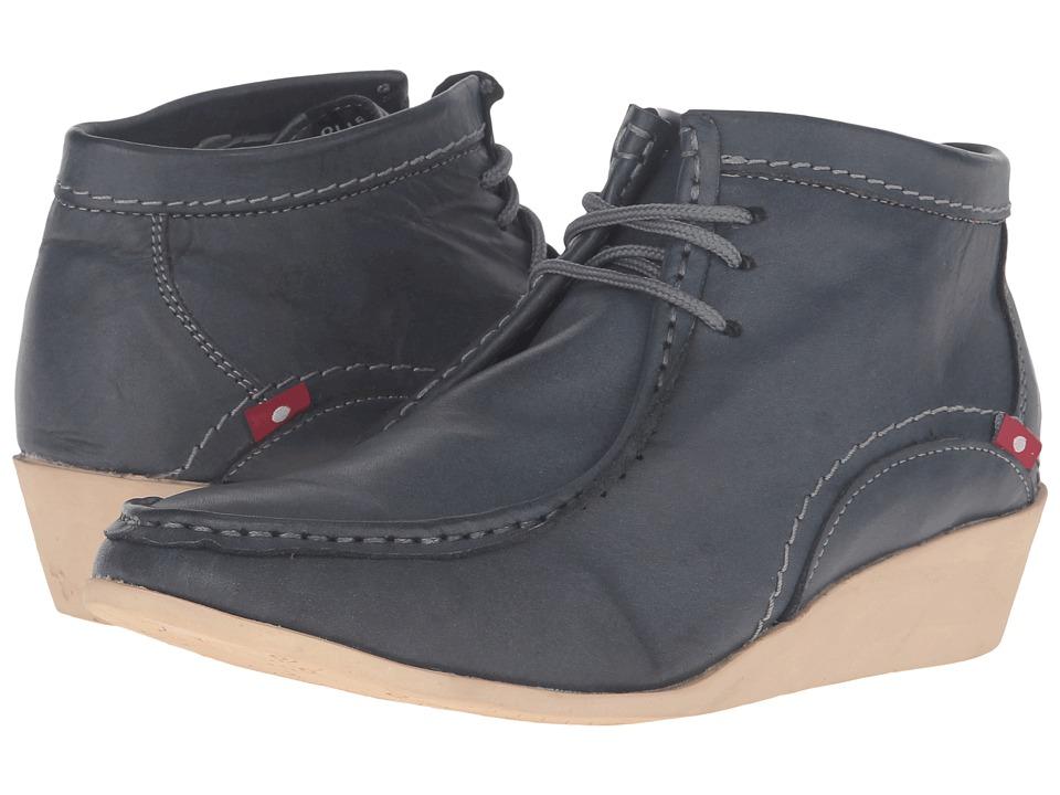 Oliberte - Nishia (Dark Grey Brushed Wax) Women's Lace-up Boots