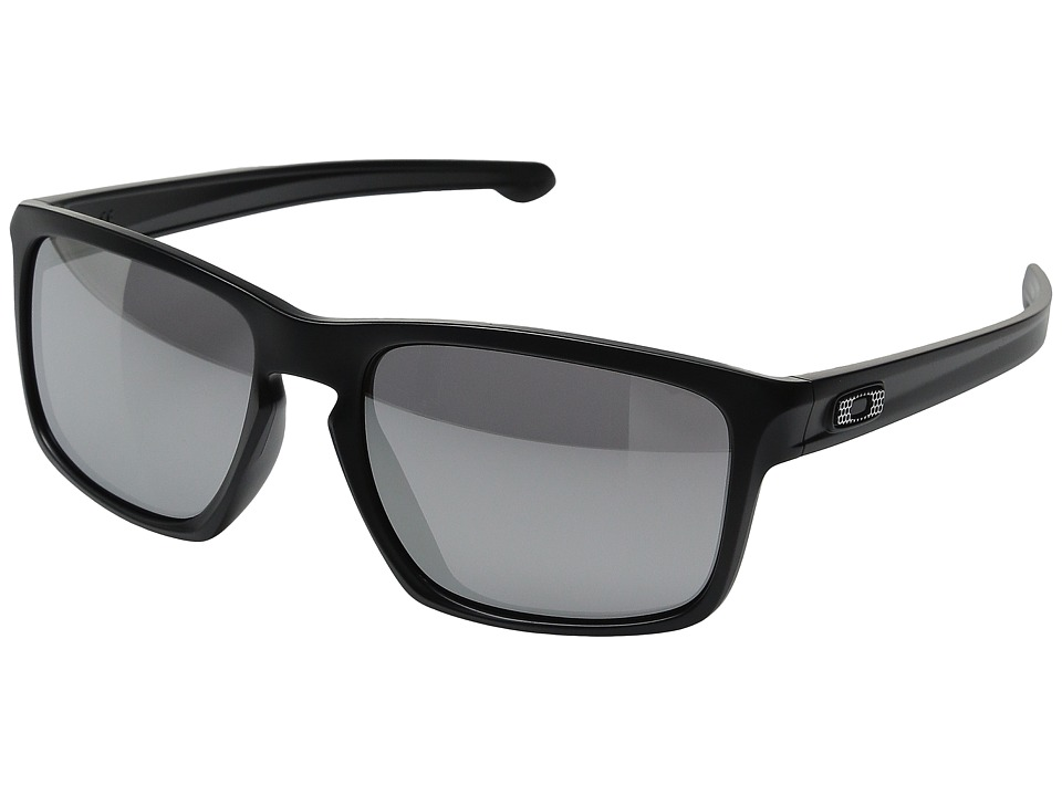 Oakley - Sliver (Asian Fit) (Machinist Matte Black/Chrome Iridium) Plastic Frame Fashion Sunglasses