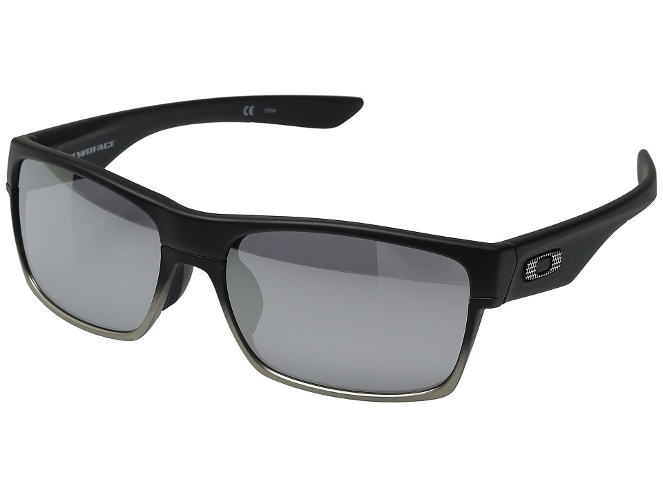 Oakley - Two Face (Asian Fit) (Machinist Matte Black/Chrome Iridium) Plastic Frame Fashion Sunglasses