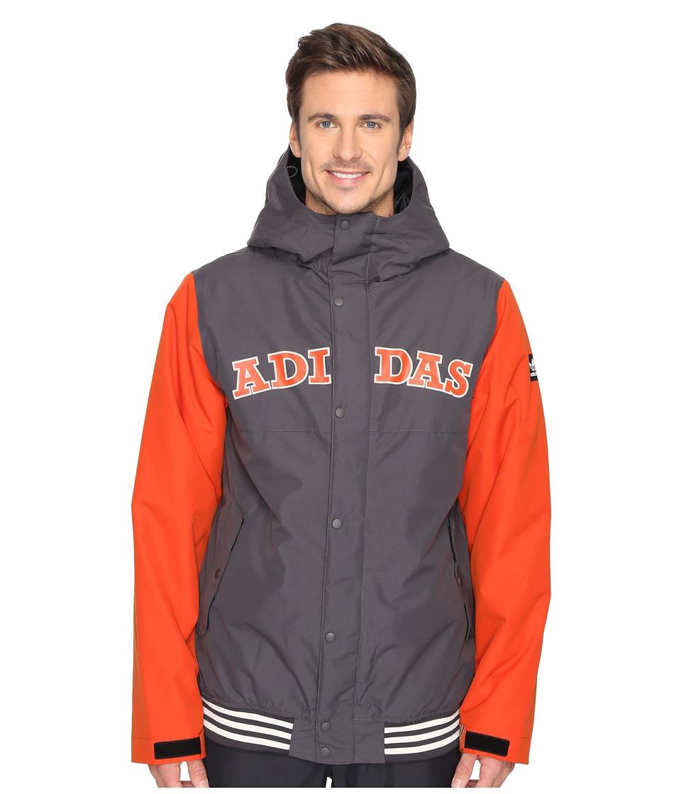 adidas Skateboarding - Greeley Insulated Jacket (Utility Black/Craft Chili) Men's Coat