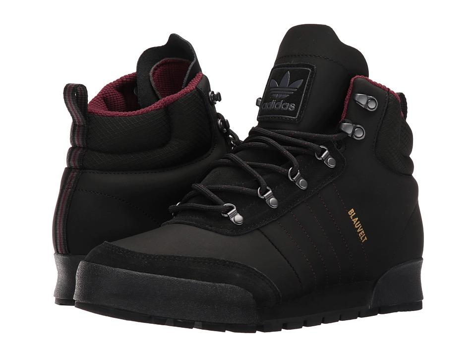 adidas Skateboarding - Jake Boot 2.0 (Core Black/Maroon/Dark Grey Heather Solid Grey) Men's Lace-up Boots