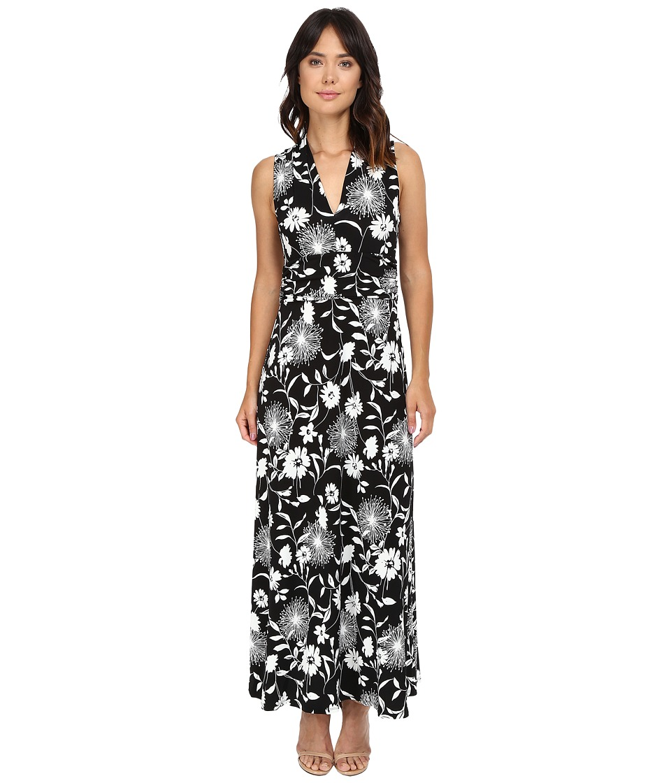 Vince Camuto - Dandelion Silhouette Halter Maxi Dress (Rich Black) Women's Dress