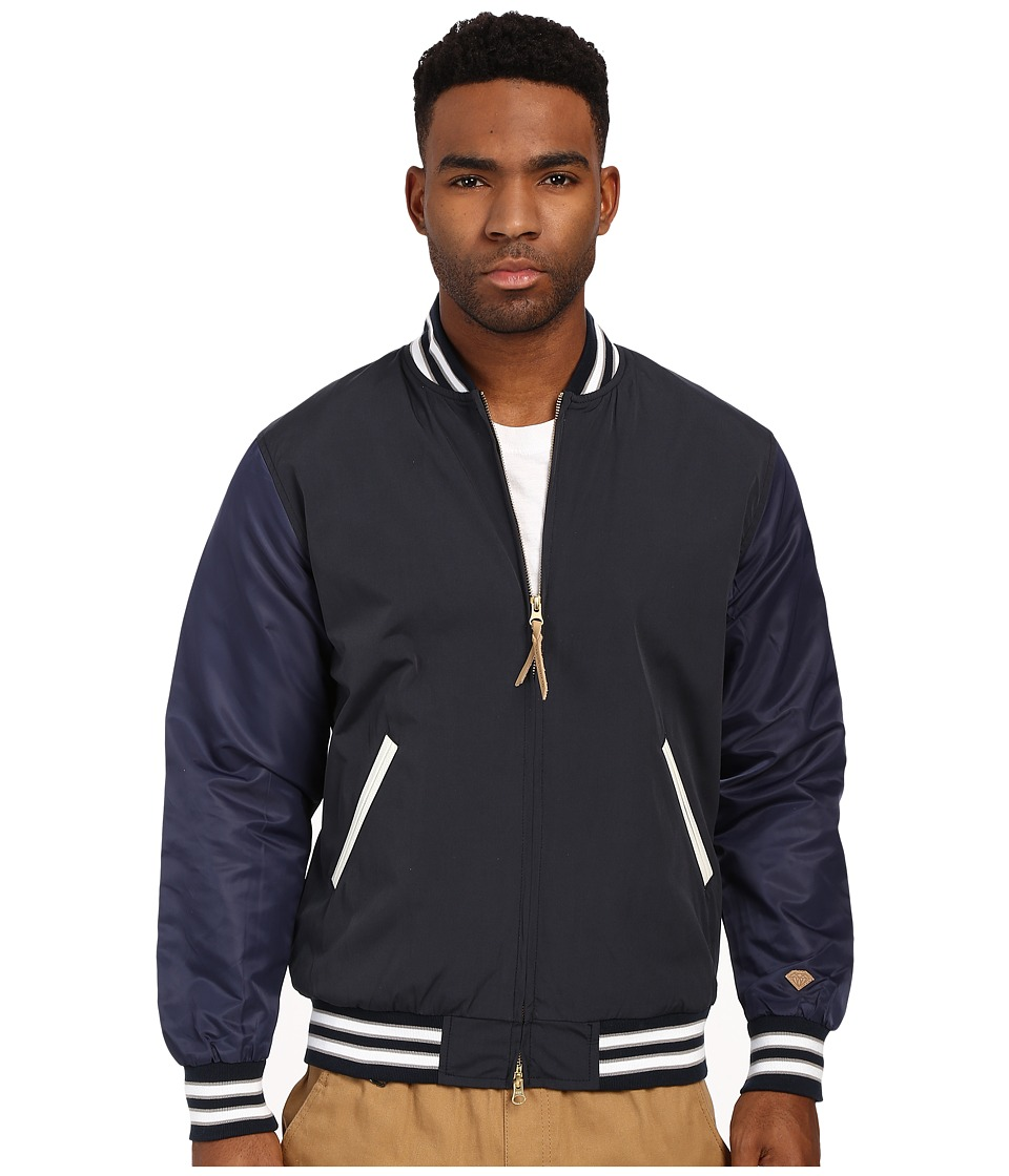 Diamond Supply Co. - Facet Stadium Jacket (Navy) Men's Coat