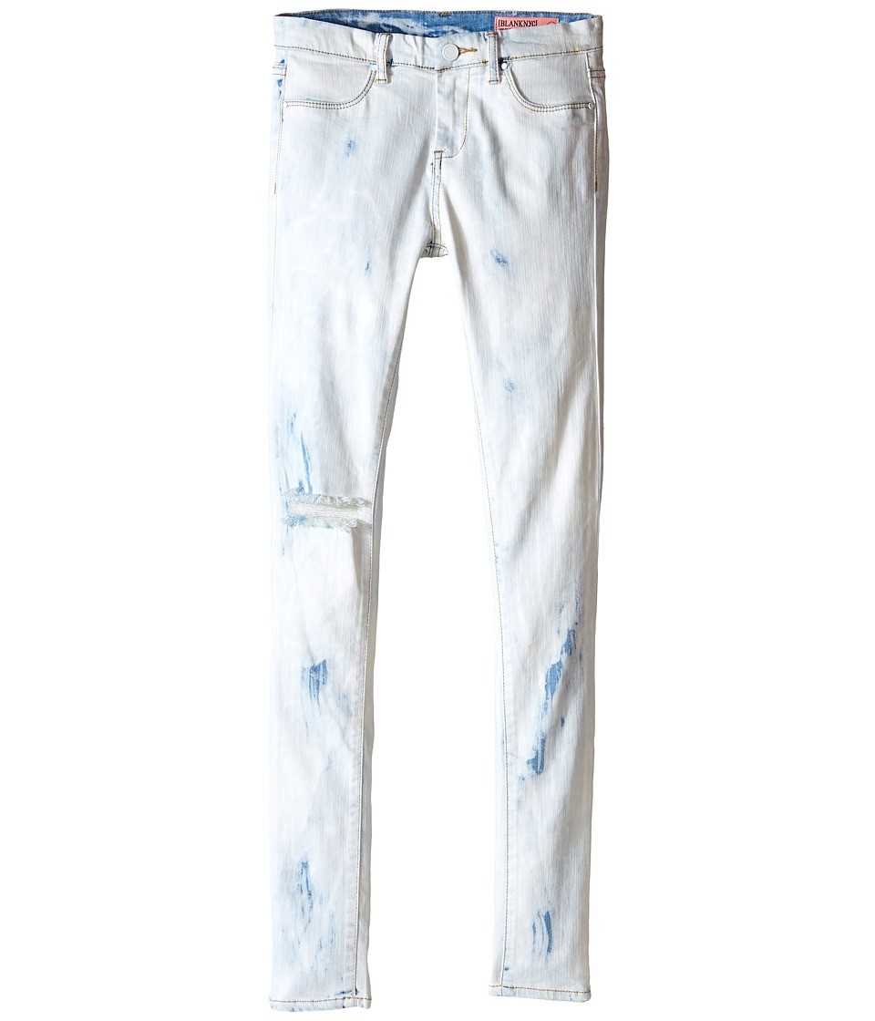 Blank NYC Kids - Washed Out Skinny Jeans in Instant Karma (Big Kids) (Bleached White/Blue) Girl's Jeans