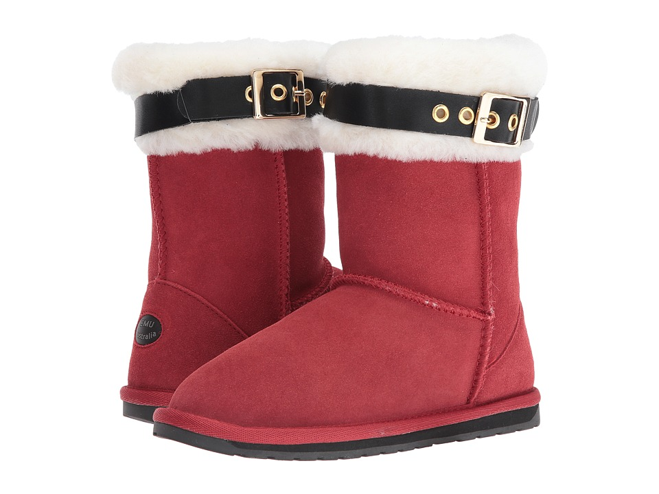 EMU Australia Kids - Santa Boots (Toddler/Little Kid/Big Kid) (Red) Kids Shoes