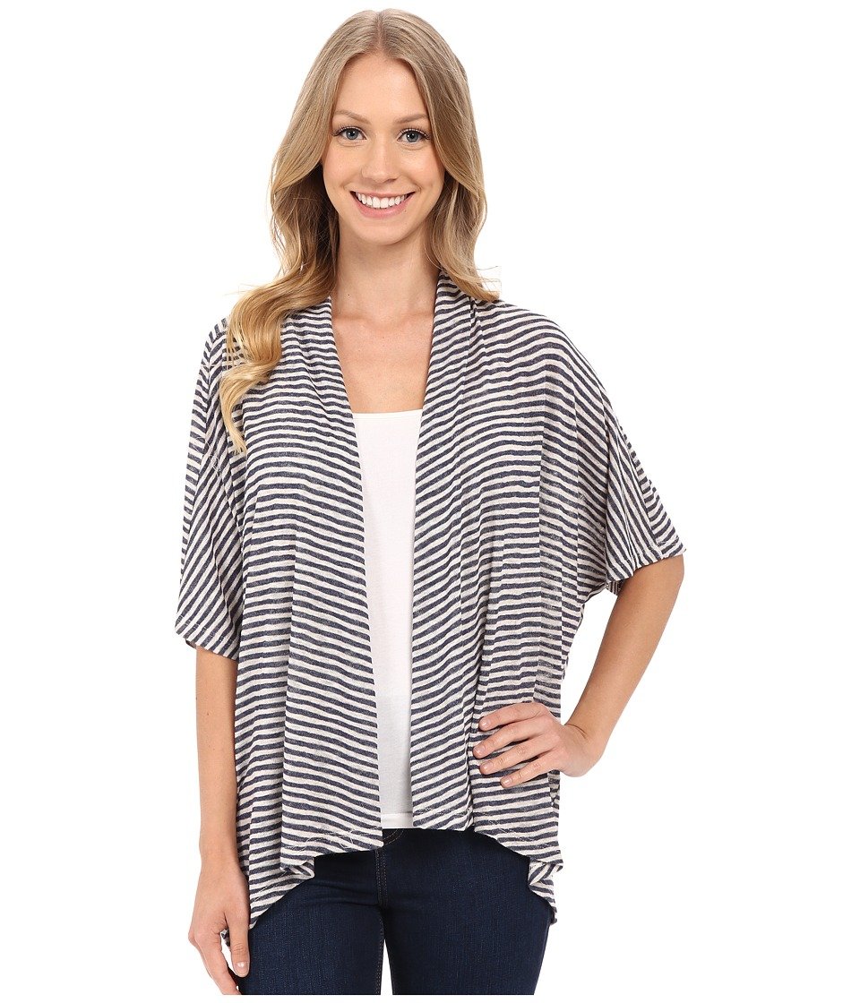 B Collection by Bobeau - Helena Stripe Cardigan (Navy Stripe) Women's Sweater