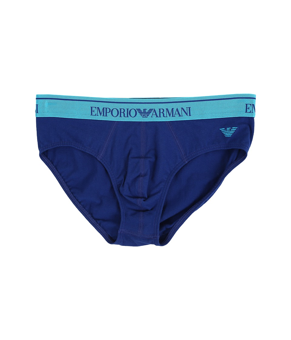Emporio Armani - Shiny Band Brief (Electric Blue) Men's Underwear