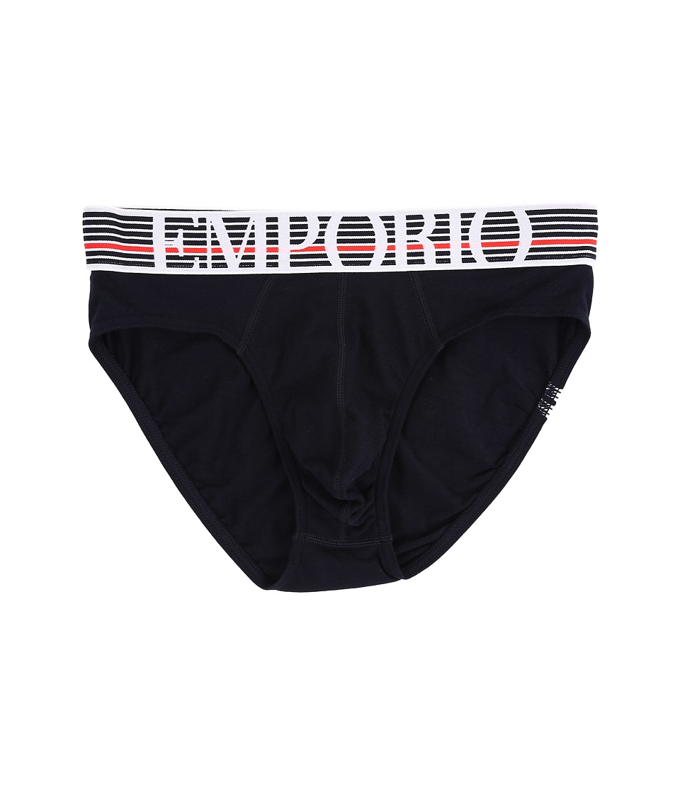 Emporio Armani - Back to the 90's Brief (Marine) Men's Underwear