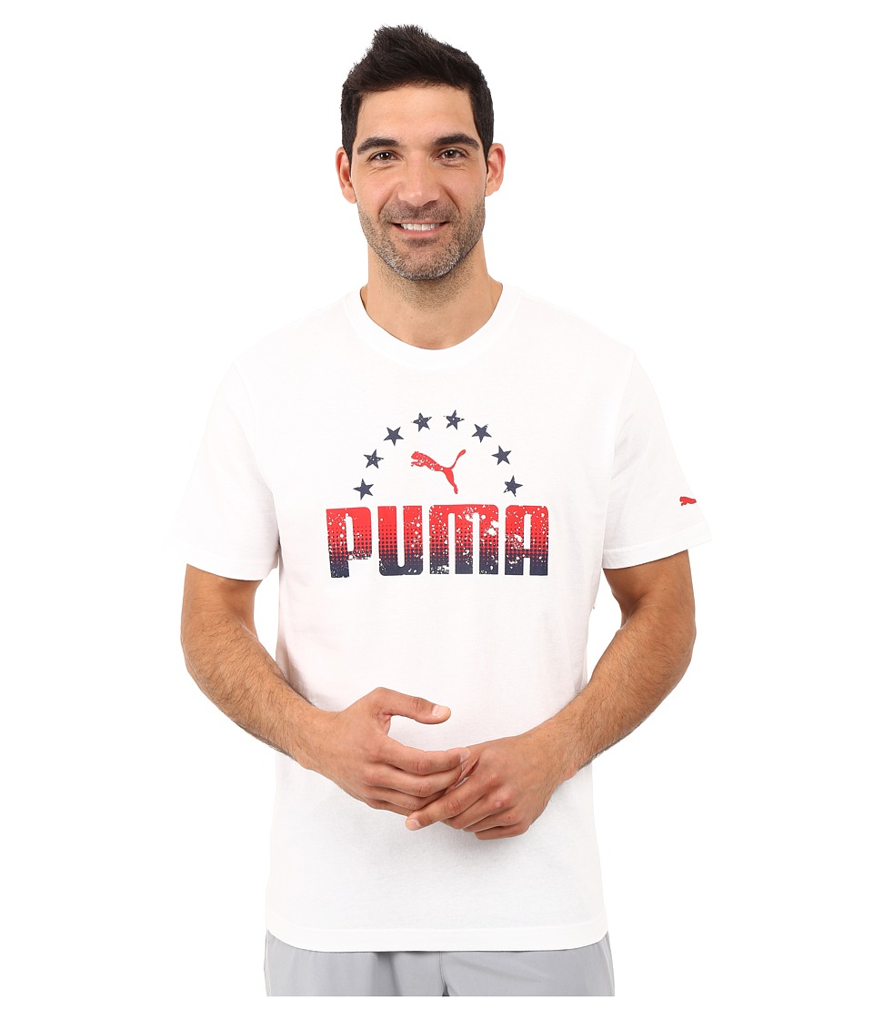 PUMA - Arch Star Tee (PUMA White) Men's T Shirt