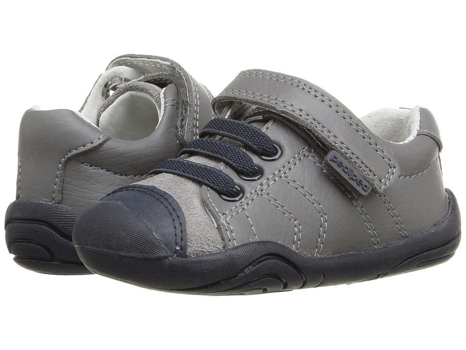 pediped - Jake Grip n Go (Toddler) (Grey/Blue) Boy's Shoes