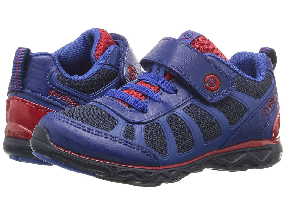 pediped - Scout Flex (Toddler/Little Kid/Big Kid) (Navy/Red) Boy's Shoes