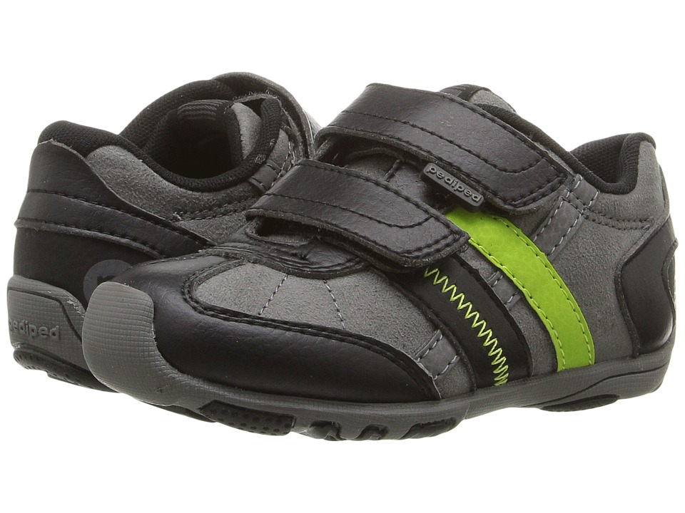 pediped - Gehrig Flex (Toddler/Little Kid) (Black Lime) Boys Shoes