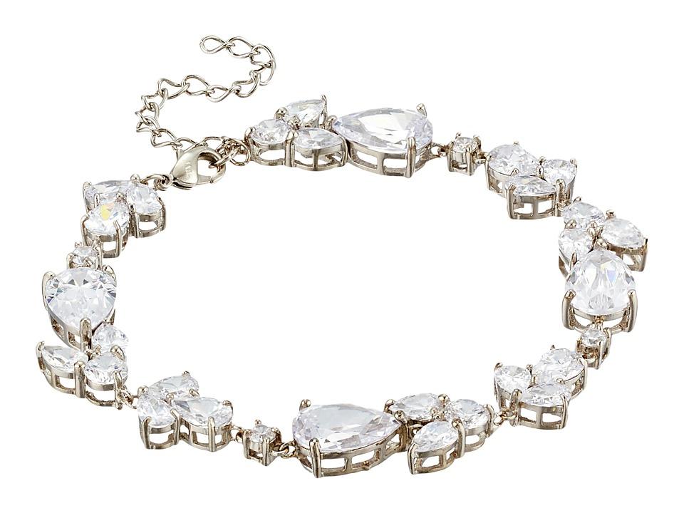Nina - Fancy Pear/Round CZ Bracelet (Palladium/CZ) Bracelet