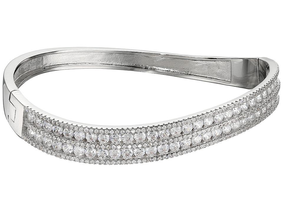 Nina - 5 Row CZ Wave Cuff Bracelet (Palladium/CZ) Bracelet