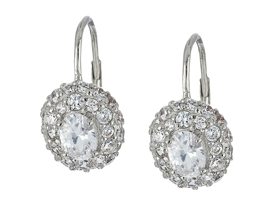 Nina - Cluster Leverback Earrings (Palladium/CZ) Earring