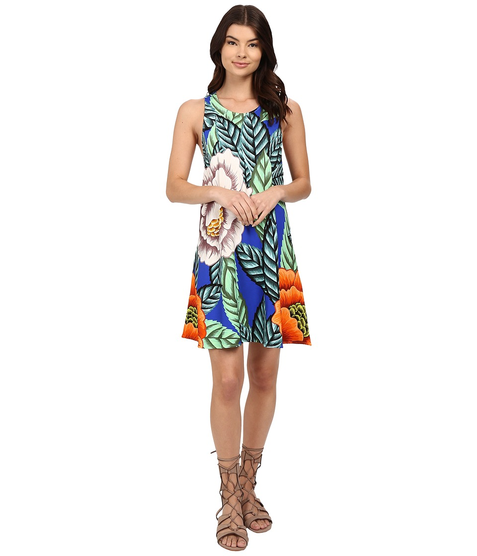 Mara Hoffman Ponte Swing Dress (Blue Multi) Women
