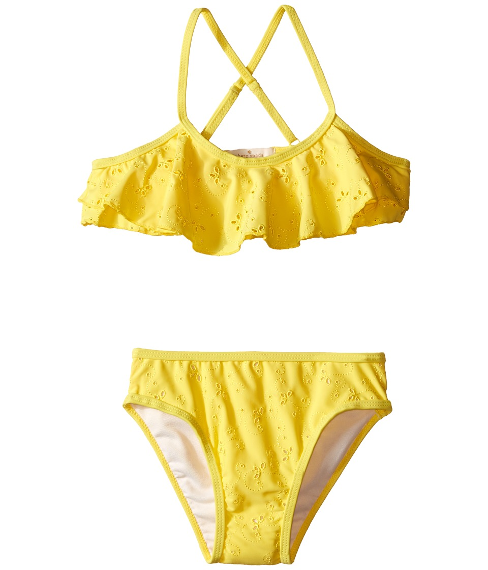 Kate Spade New York Kids - Eyelet Two-Piece (Toddler/Little Kids) (Lemon Yellow) Girl's Active Sets