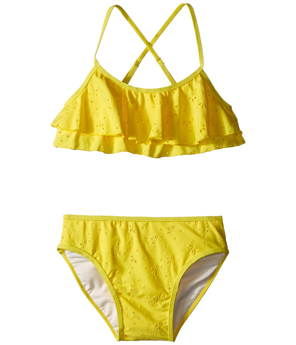 Kate Spade New York Kids - Eyelet Two-Piece (Big Kids) (Lemon Yellow) Girl's Active Sets