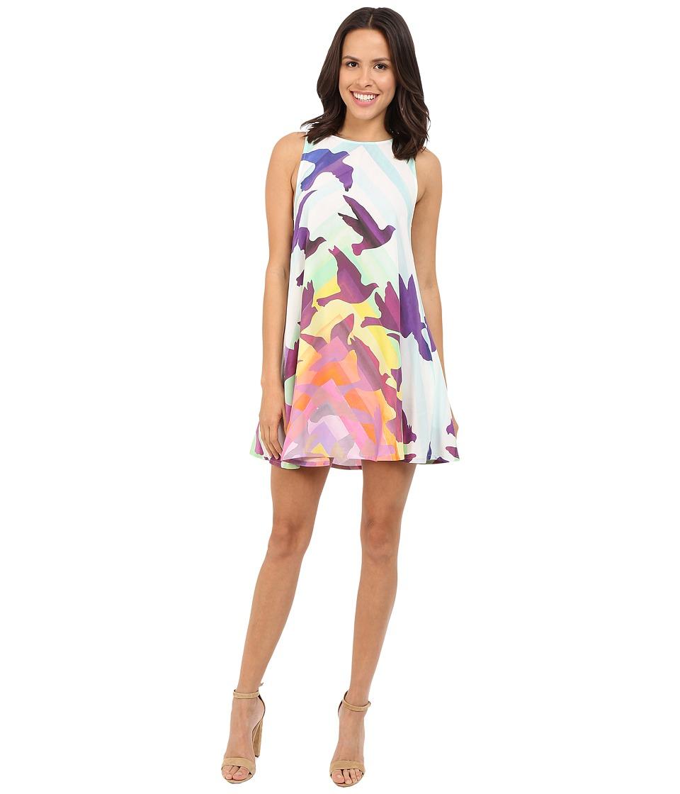 Mara Hoffman - Rayon Swing Mini Dress (White Multi) Women's Dress