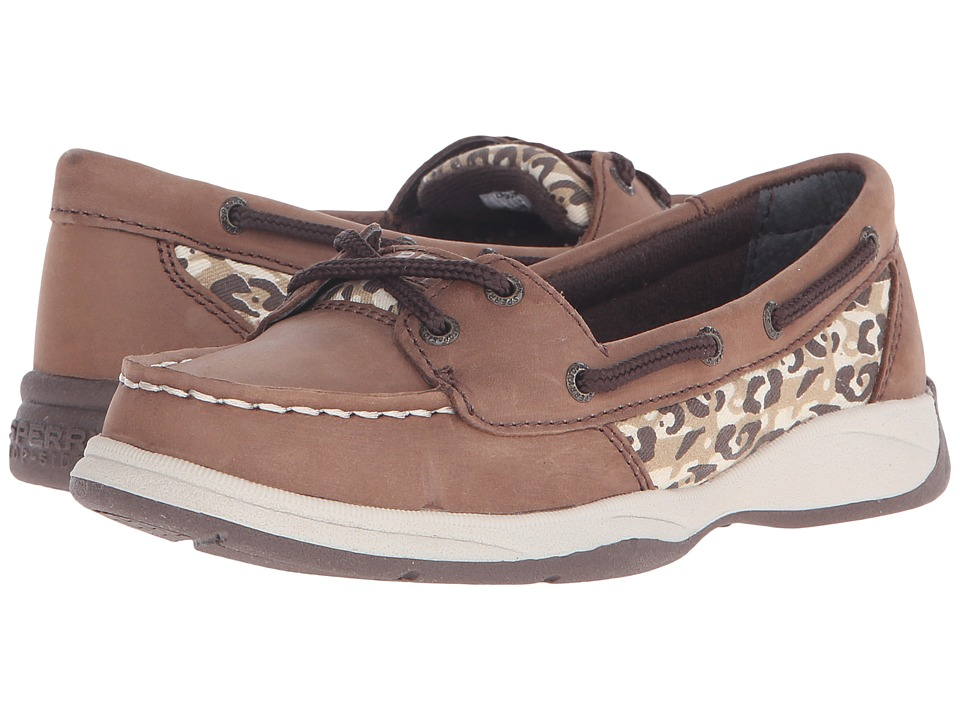 Sperry Top-Sider Kids - Laguna (Little Kid/Big Kid) (Brown/Leopard) Girl's Shoes
