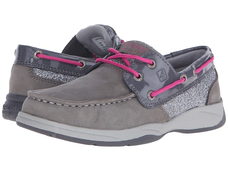 Sperry Top-Sider Kids - Intrepid (Little Kid/Big Kid) (Grey/Pink) Girl
