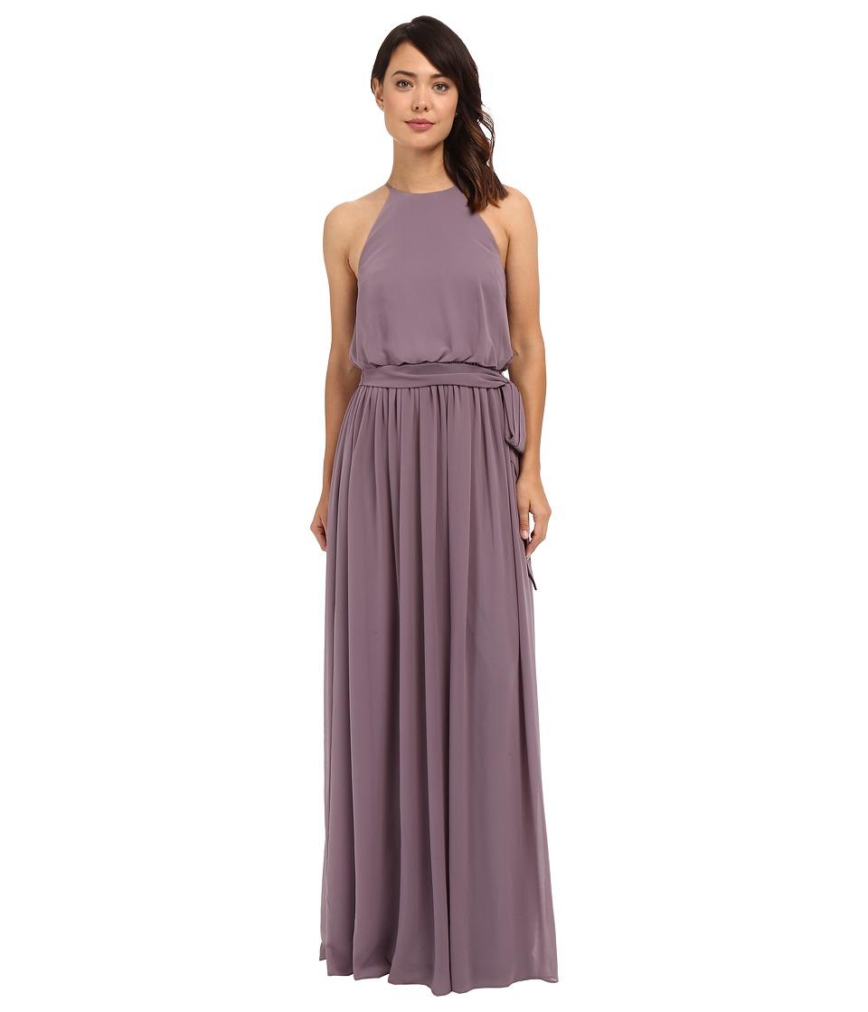 Donna Morgan - Alana Drape Blouson Gown (Grey Ridge) Women's Dress