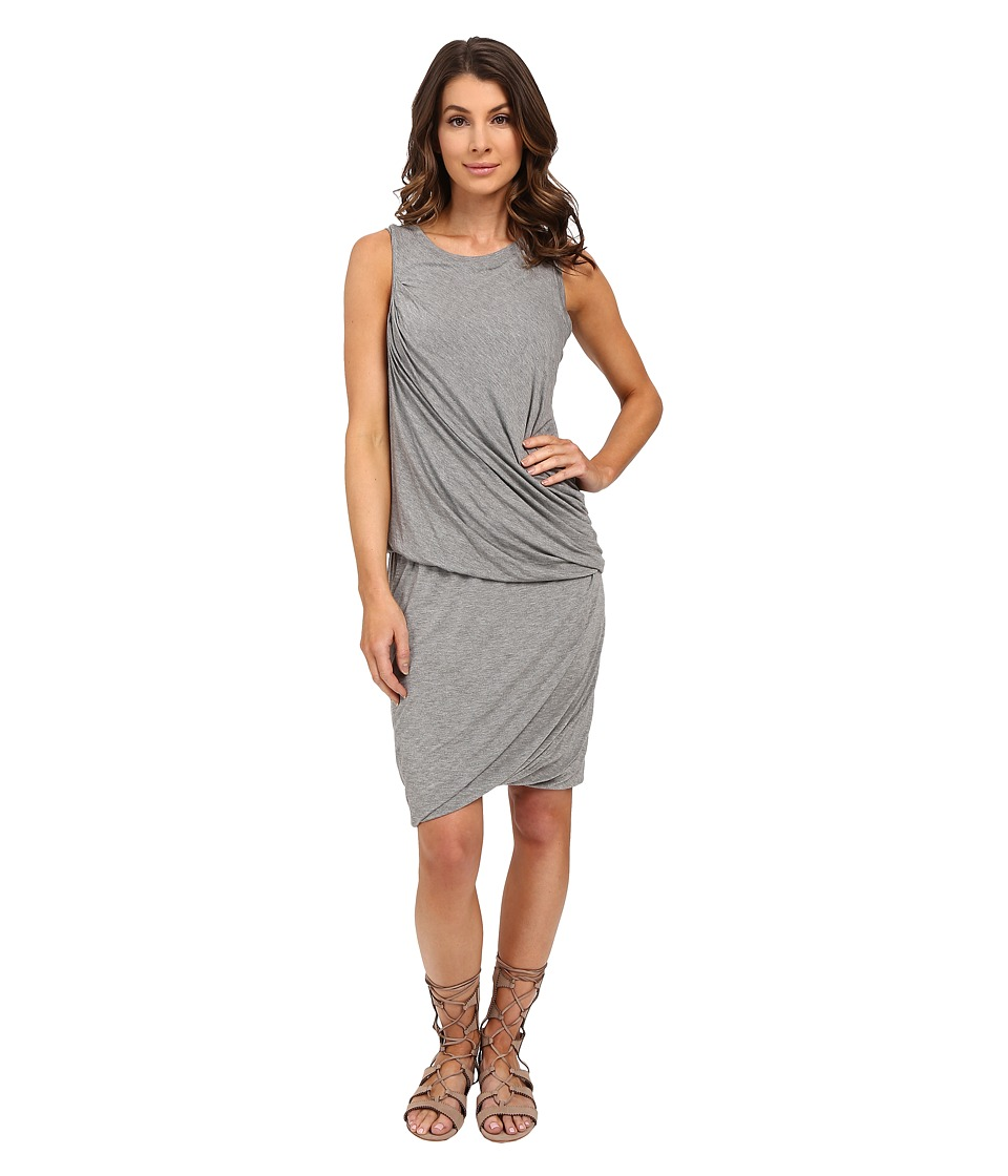 HEATHER - Twisted Mini Dress (Heather Grey) Women's Dress