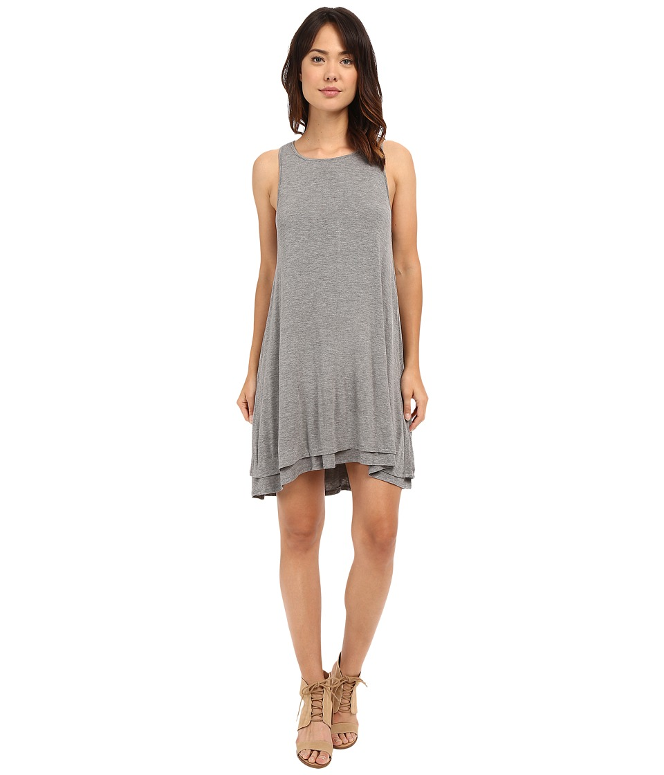 HEATHER - Back Keyhole Dress (Heather Grey) Women's Dress