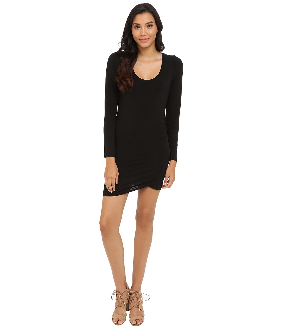HEATHER - Tulip Hem Dress (Black) Women's Dress