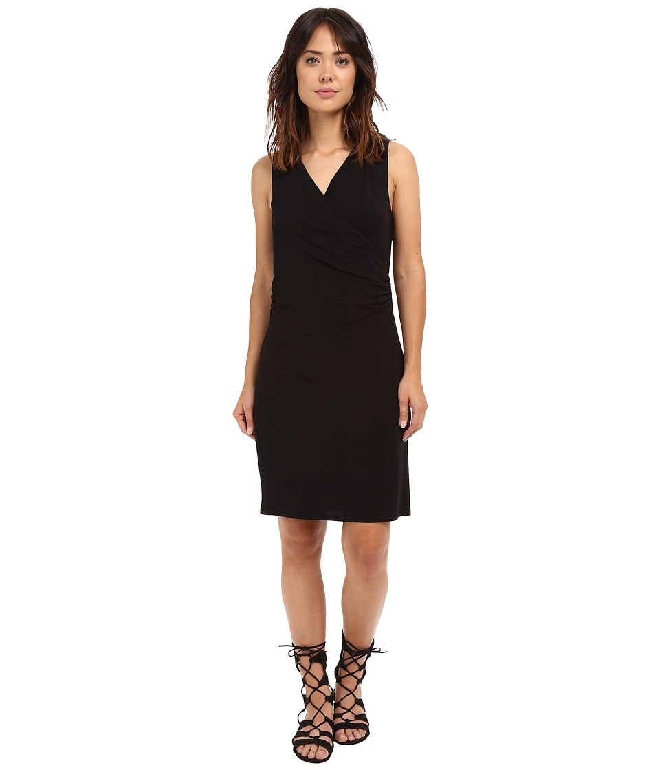 HEATHER - Cross Front Dress (Black) Women's Dress