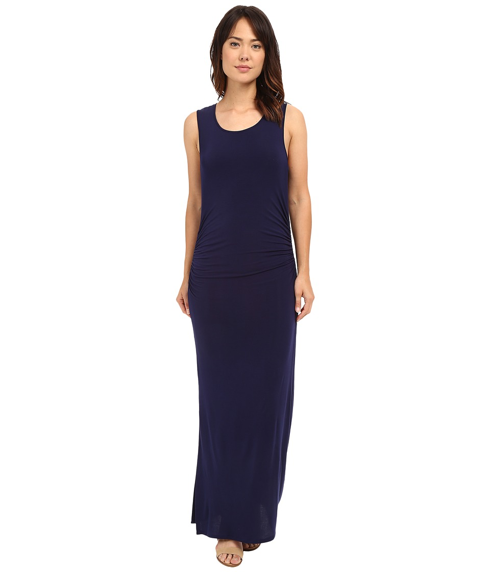 HEATHER - Shirred Midi Tank Dress (Eclipse) Women's Dress