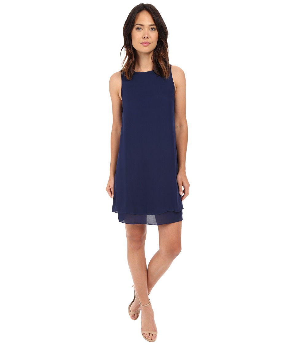 HEATHER - Georgette Layered Dress (Eclipse) Women's Dress