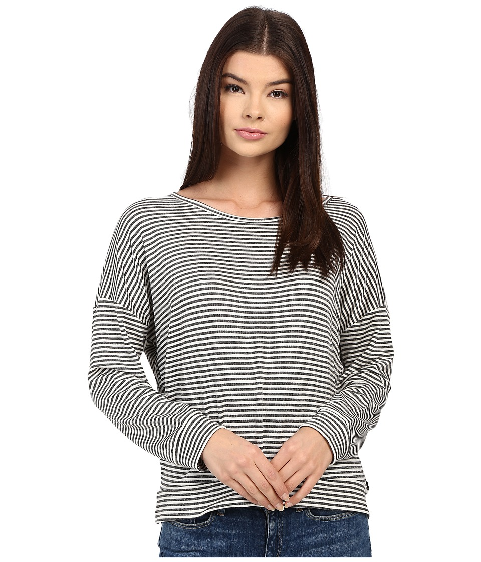Obey - Riley Long Sleeve (Charcoal Stripe) Women's Long Sleeve Pullover