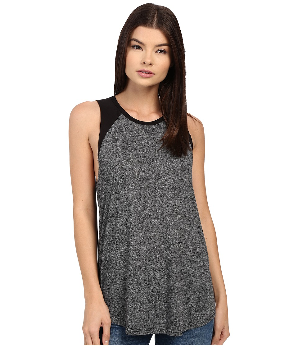 Obey - Bianca Cut Off Raglan (Heather Black) Women's Sleeveless