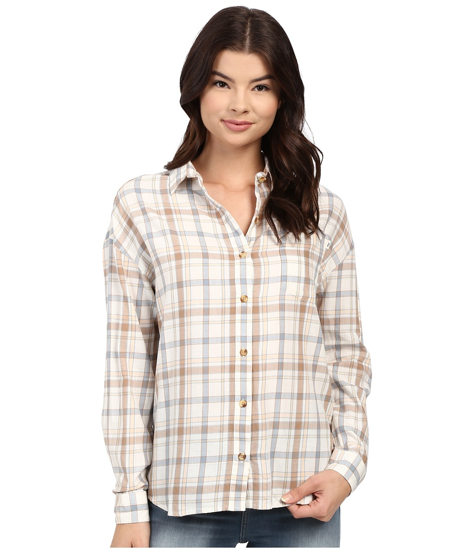 Obey - Ditch Plains Long Sleeve Woven (Natural Multi) Women's Long Sleeve Button Up