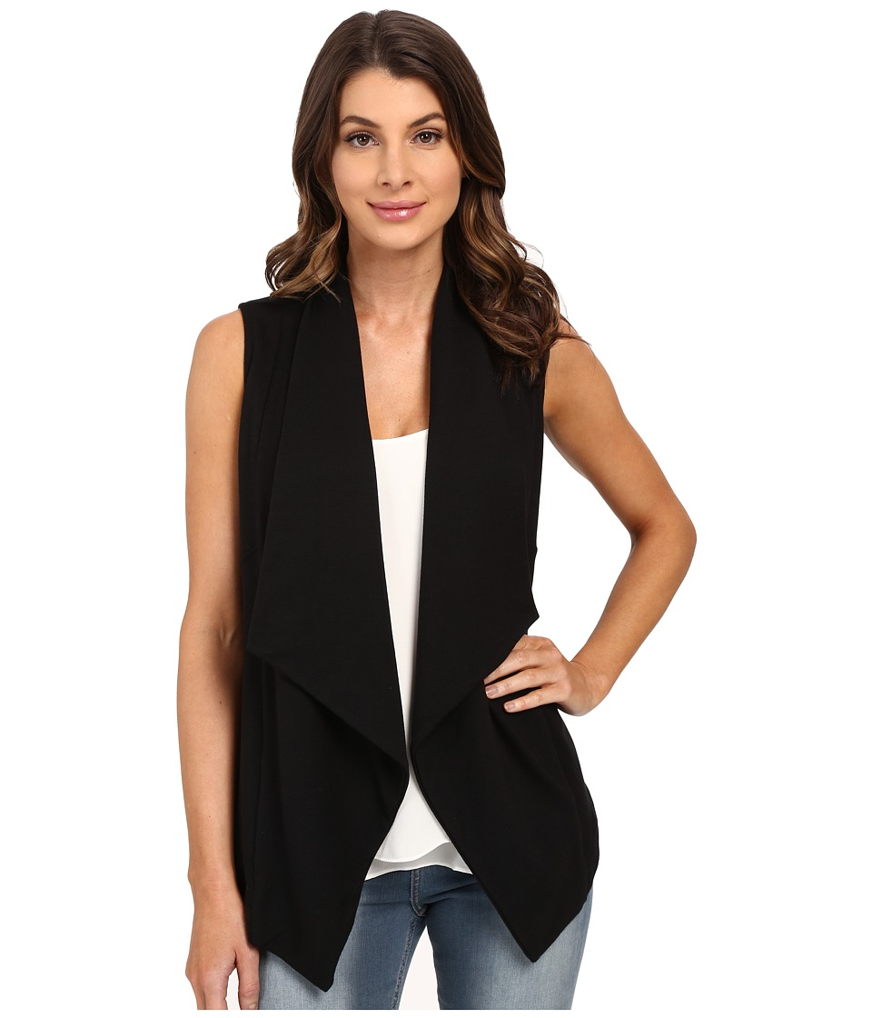 HEATHER - French Terry Panel Vest (Black) Women's Vest