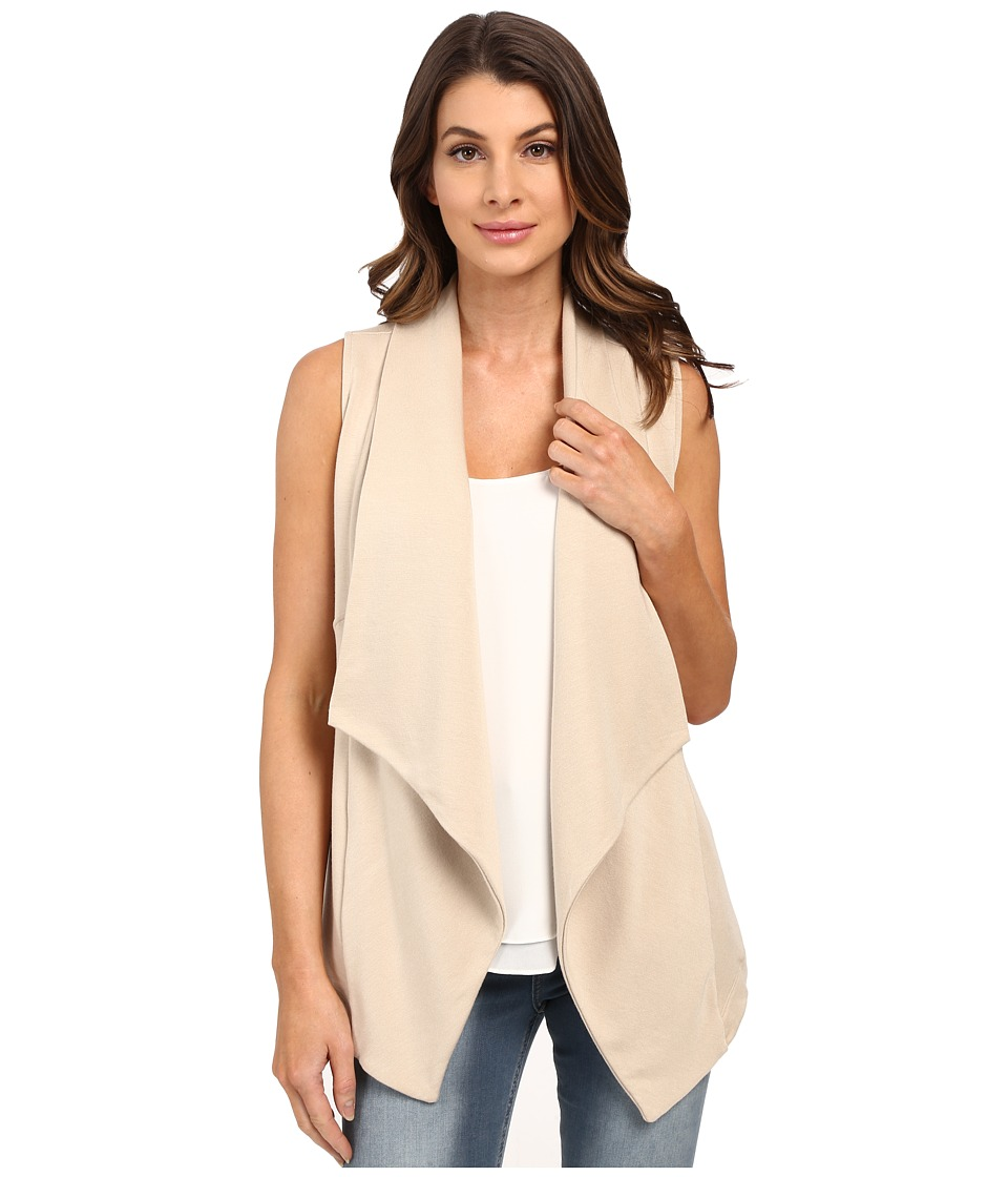 HEATHER - French Terry Panel Vest (Khaki) Women's Vest