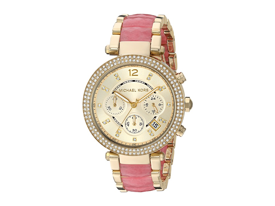 Michael Kors - MK6363 - Parker (Gold/Pink) Watches