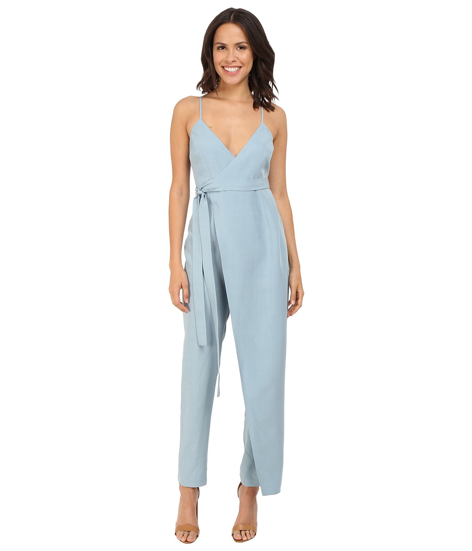 Mara Hoffman - Tencel Cross Front Jumpsuit (Slate) Women's Jumpsuit & Rompers One Piece