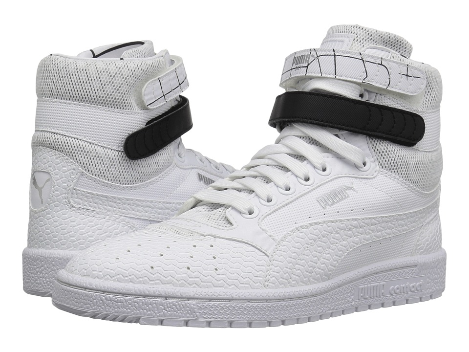 PUMA - Sky II Hi SF Texture (White) Women's Shoes