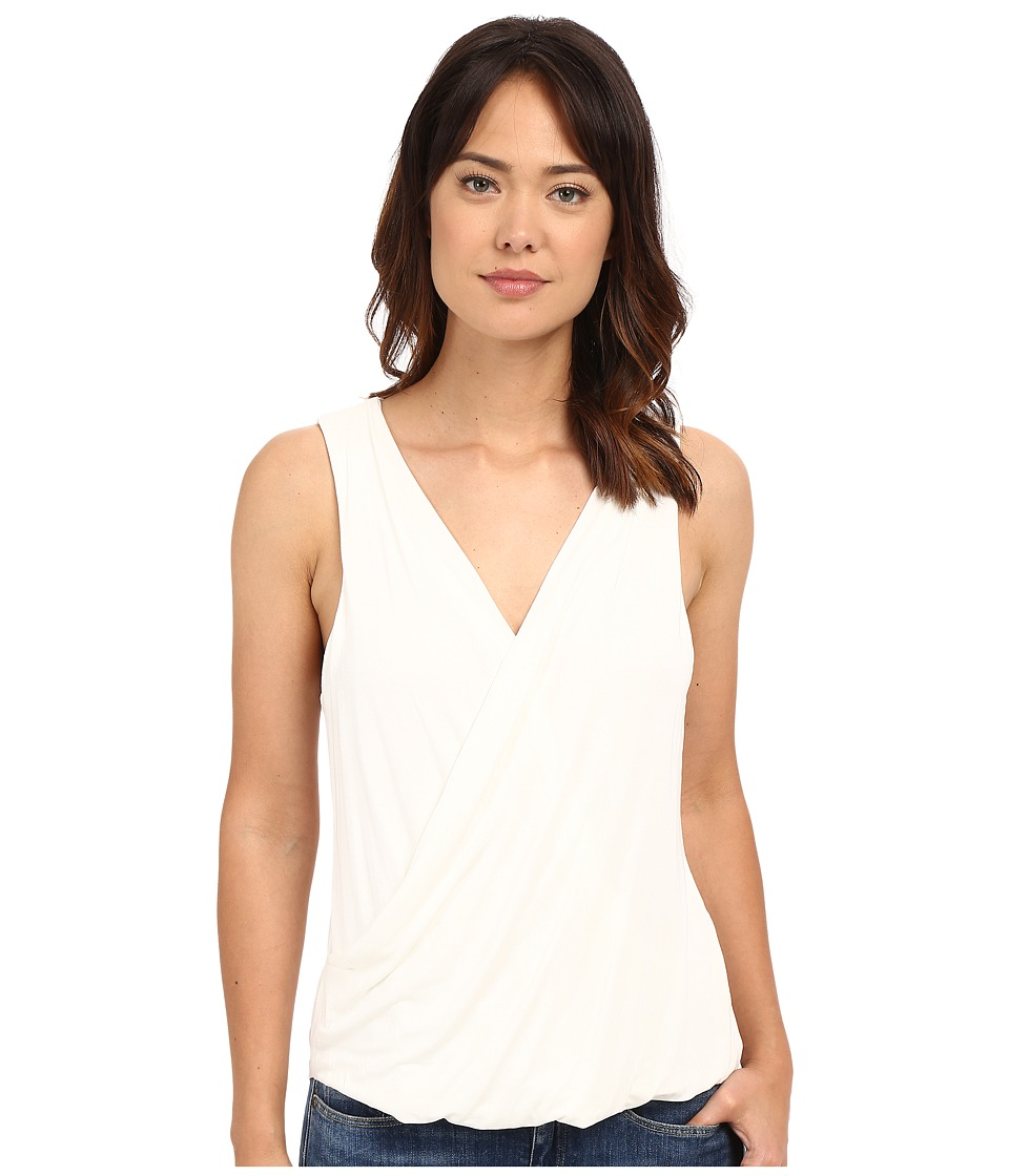 HEATHER - Twist Front Tank Top (White) Women's Sleeveless