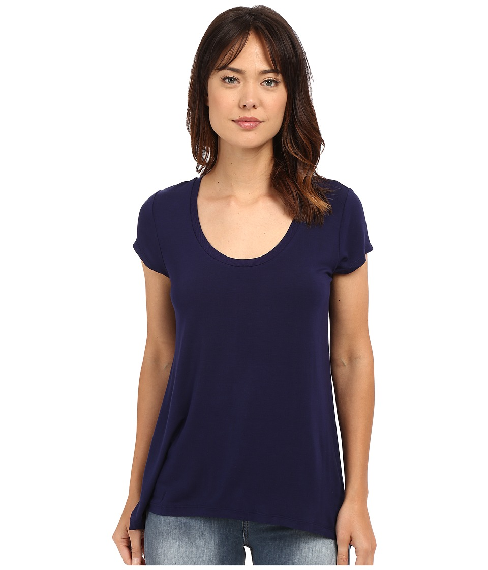HEATHER - Scoop Neck Tee (Eclipse) Women's Short Sleeve Pullover
