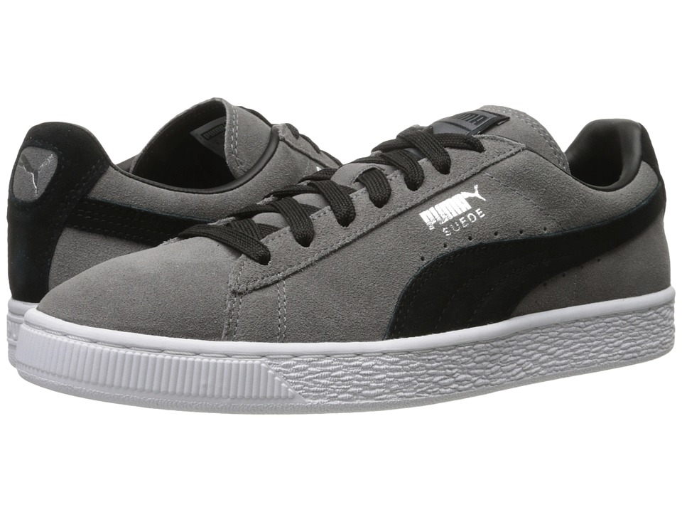 PUMA - Suede Classic + (Steel Gray/Puma Black) Men's Shoes